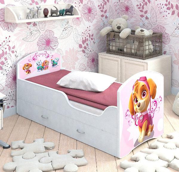 Кровать CLASSIC с ящиком Щенячий патруль СКАЙ комната